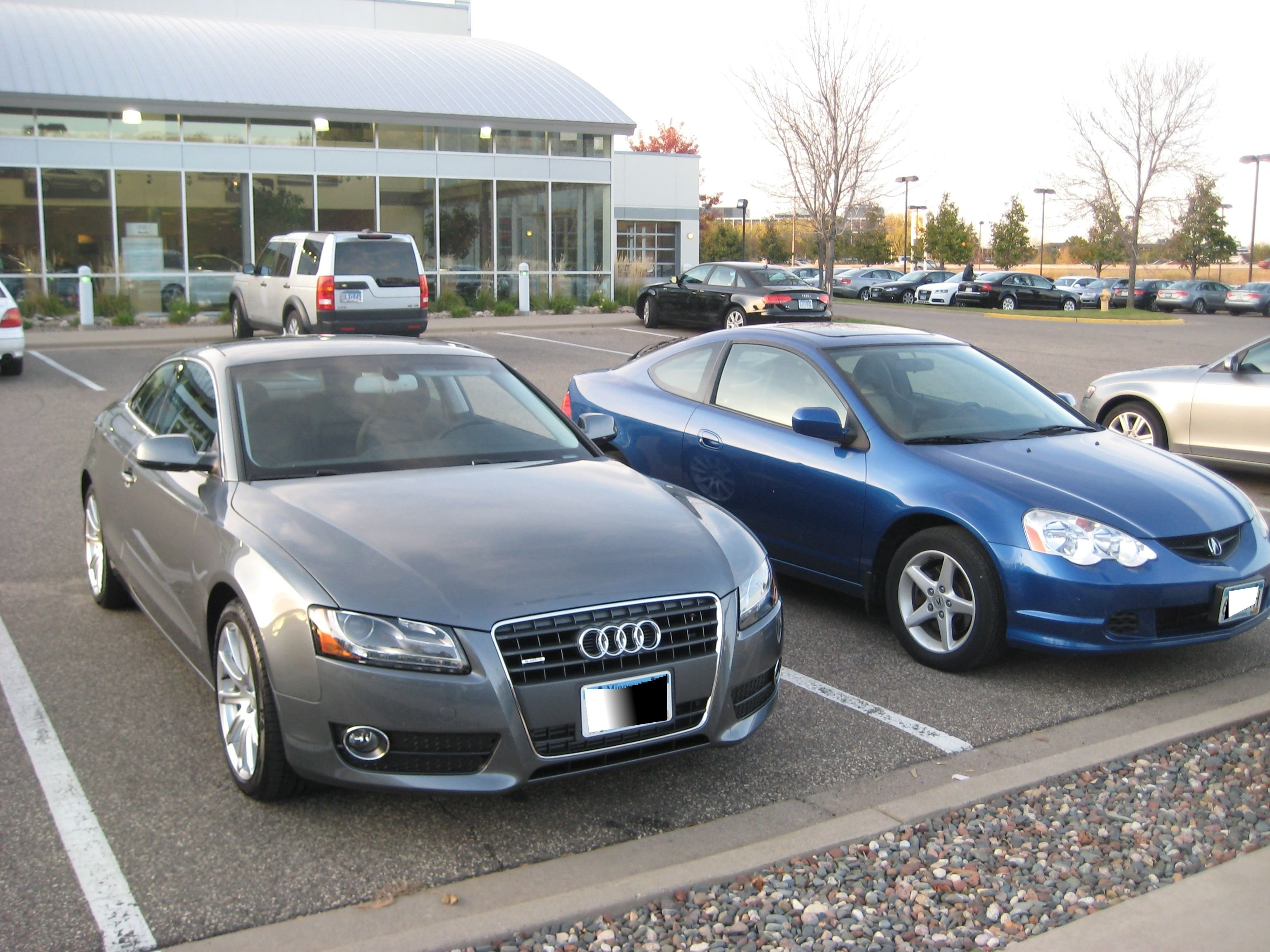 Click image for larger version name 2012 monsoon gray audi a5 vs 2002 acura rsx