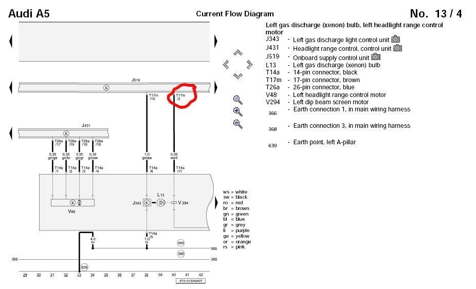 retro fitting oem bi-xenon led drl headlights - audi a5 forum, Wiring diagram