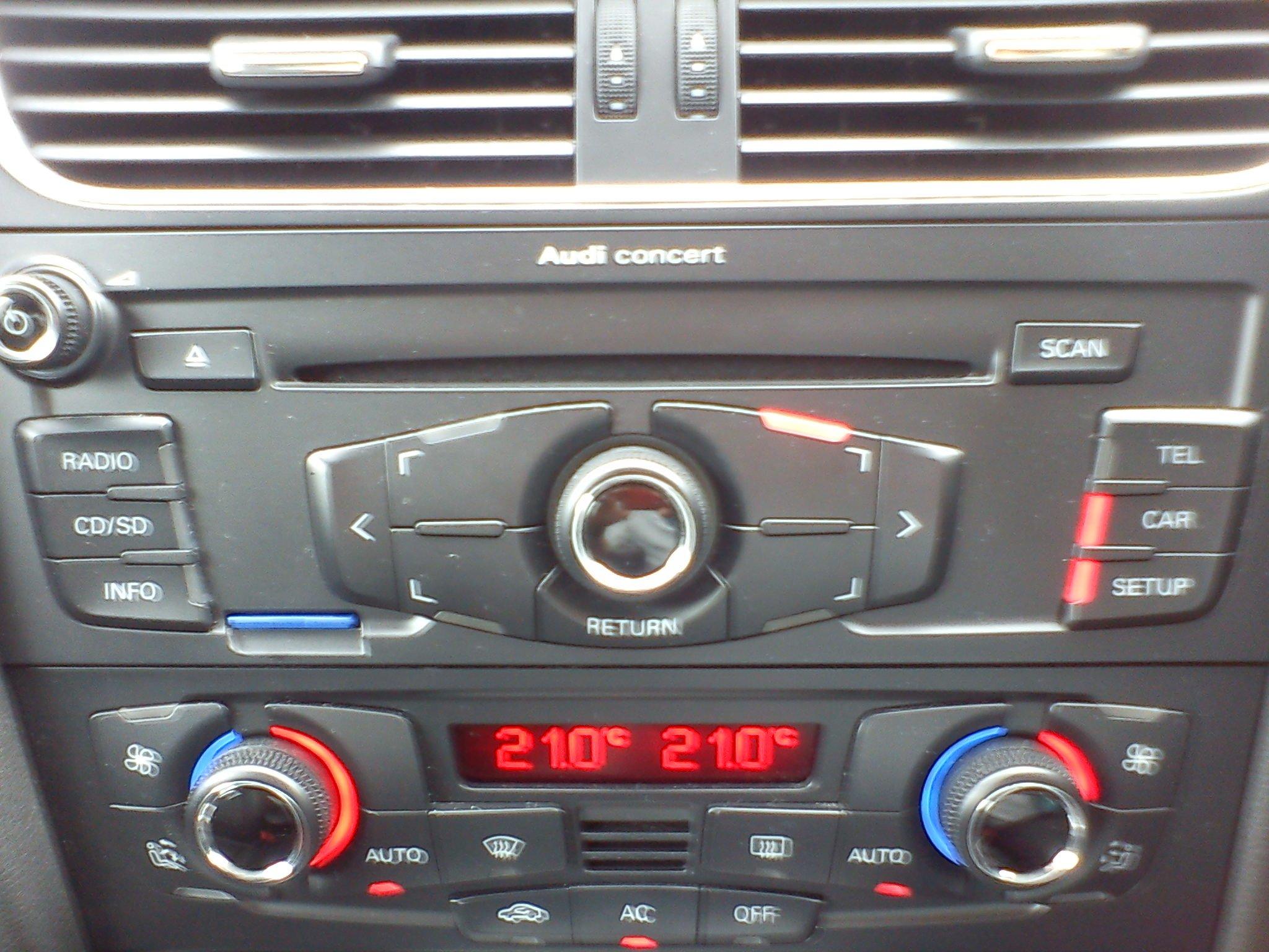 Concert Radio Head Unit | Audi A5 Forum & Audi S5 Forum