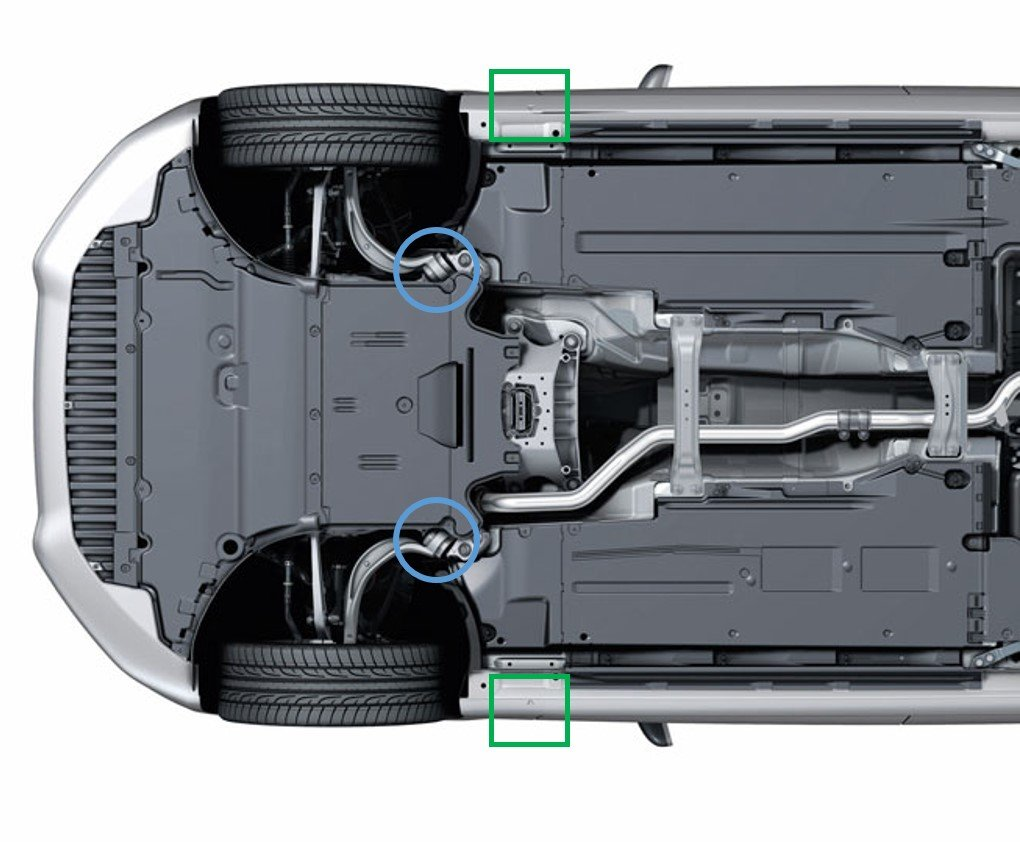 Best Lift Jack Points On The Rs5 Undercarriage