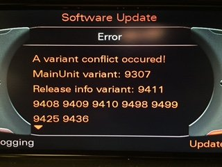 MMI 3G navigation 6 22 4 and firmware updates - currently