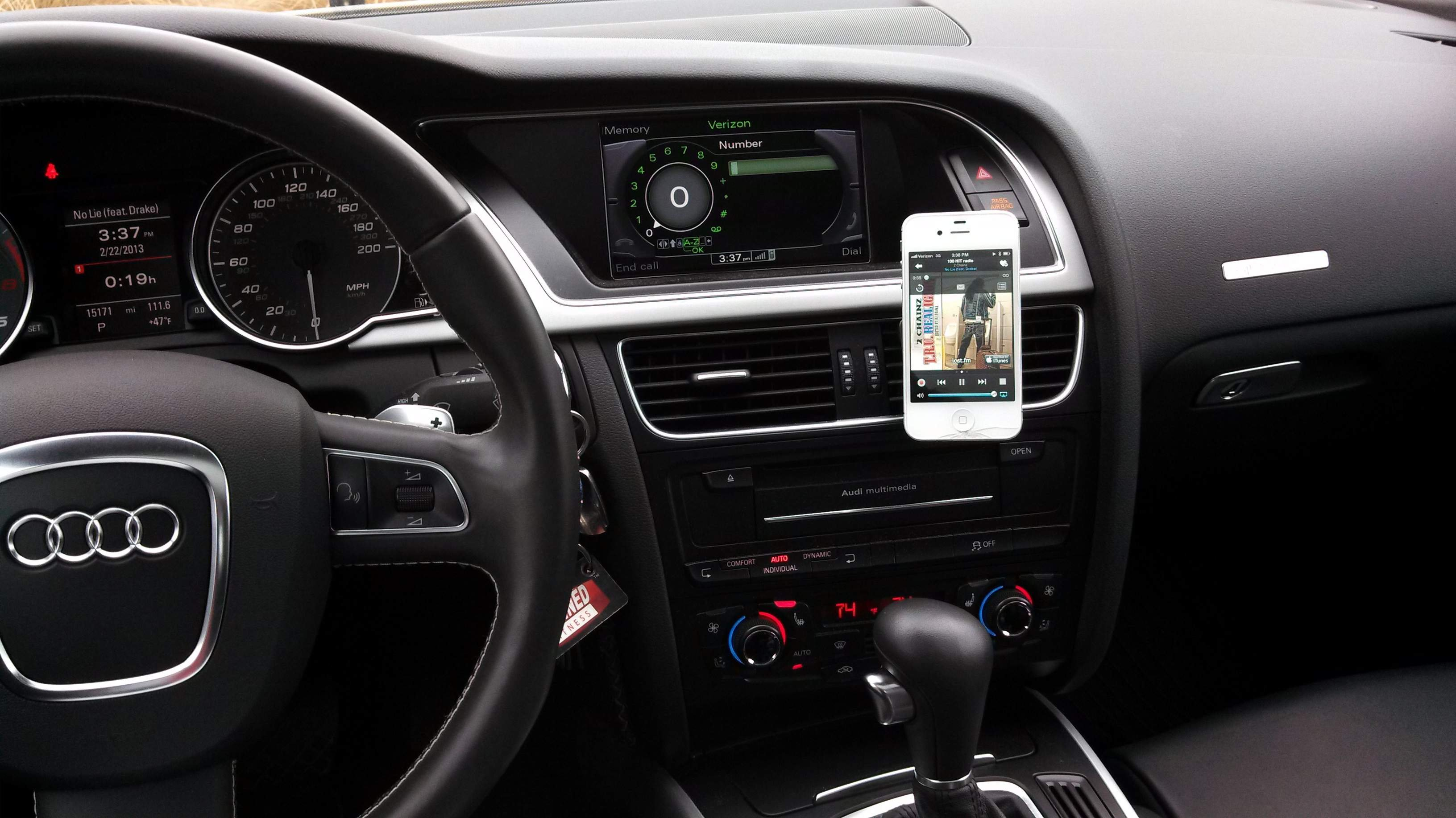 Show Us Your Phone Mount AMI Reroute Audi A Forum Audi S Forum - Audi iphone 6 car mount