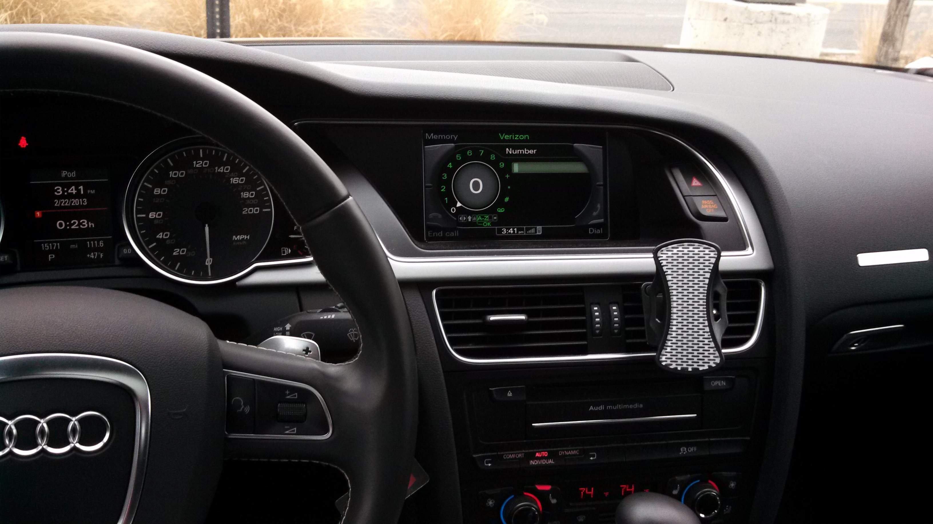 Show Us Your Phone Mount AMI Reroute Audi A Forum Audi S Forum - Audi iphone 6 car cradle