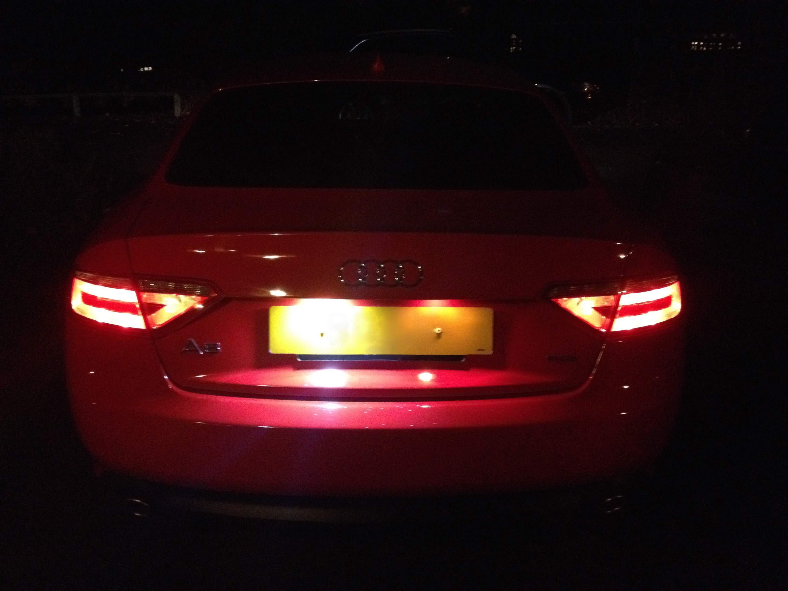 Audi A4 S4 B8 TDI TSFI License Number Plate 6 LED White Light Bulbs Upgrade