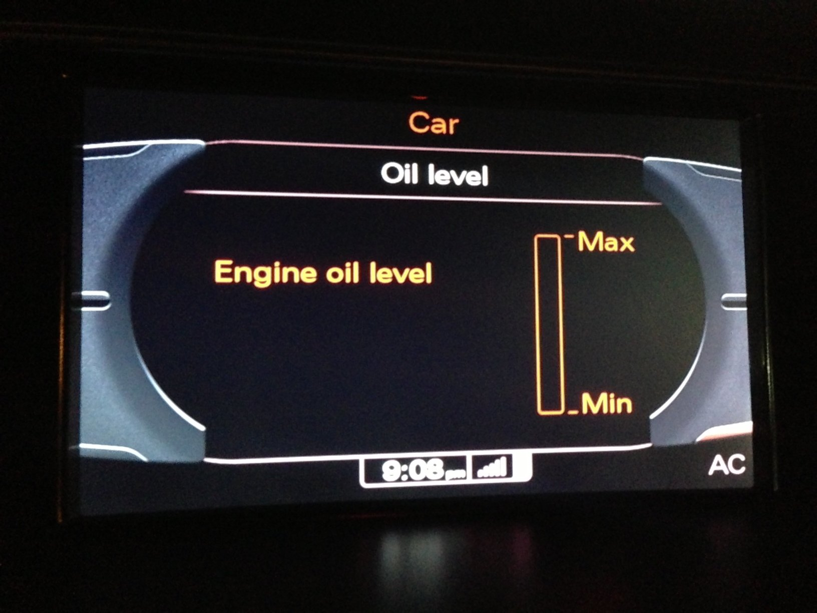 Oil Level Not Reading Or No Oil Audi A5 Forum Audi S5 Forum