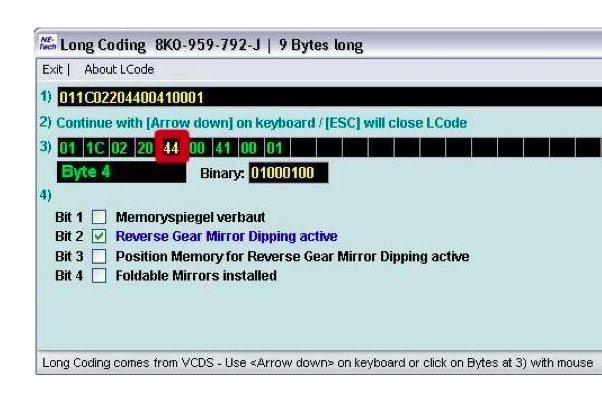 VCDS - Mirror Tilt | Audi A5 Forum & Audi S5 Forum