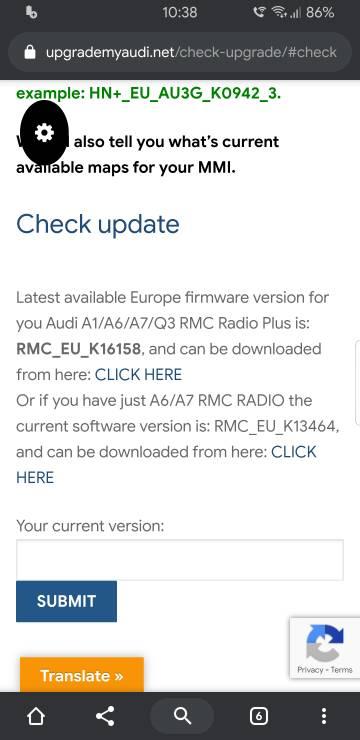 MMI 3G+/3GP navigation 6 24 2 and firmware updates
